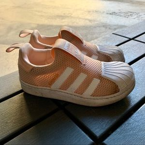 Adidas Girl no lace slip on sneakers